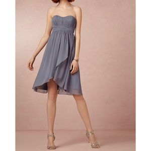 BHLDN Hitherto Blue Strapless Alice Dress